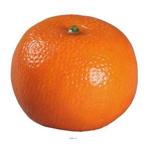 Mandarine artificielle avec leste D 8 cm H 6 cm ARTIF-DECO