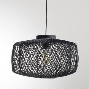 Hanglamp in zwart geweven rotan, niet elektrisch, Yaku La Redoute Interieurs