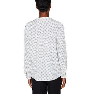 Polka Dot Print Blouse with Grandad Collar ESPRIT