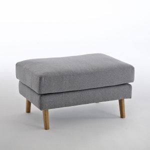 Pouf polyester chiné Stockholm, confort Excellence La Redoute Interieurs