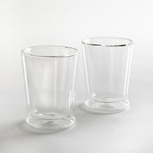 Glazen tas met dubbele wand, set van 2 La Redoute Interieurs