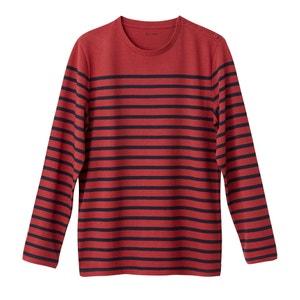 T-shirt met lange mouwen en ronde hals, 100% katoen R essentiel