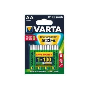 Batterie HR06 aa 2100 mah longlife blister de 4 VARTA