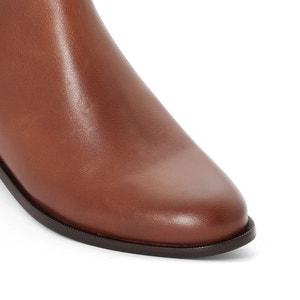 Boots cuir détail élastique atelier R