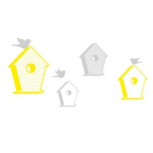 Sticker mural enfant Cabane à oiseaux MILI.GARDEN