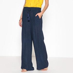 Pantalon large, crépon ANNE WEYBURN