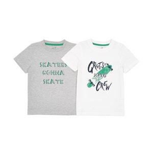 Lote de 2 T-shirts, 3-12 anos La Redoute Collections