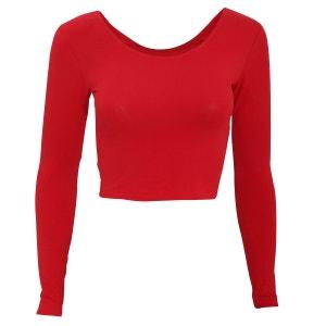 T-Shirt Raccourci À Manches Longues - Femme AMERICAN APPAREL