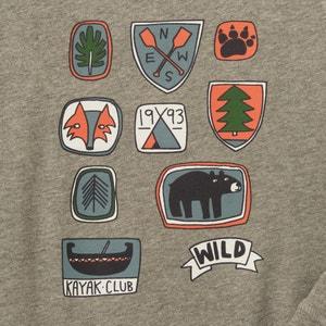 Badge-Print Pyjamas, 2-12 Years La Redoute Collections
