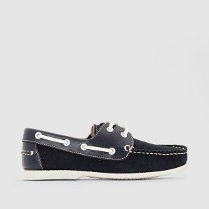 Chaussures bateau, croûte de cuir vachette 26-40 La Redoute Collections