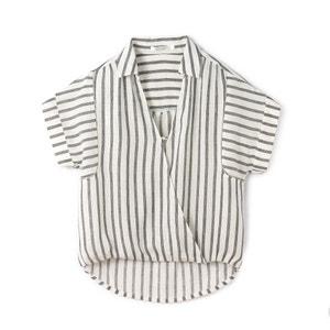 Gestreepte blouse met korte mouwen SEE U SOON