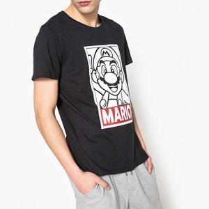 T-shirt estampada de gola redonda, mangas curtas MARIO