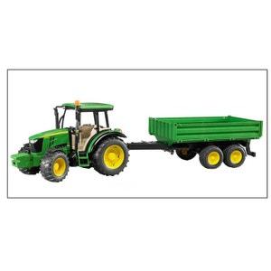 Bruder 02108 Tracteur John Deere 5115M avec Remorque à ridelles BRUDER