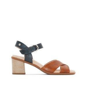 Denia W2R High Heeled Leather Sandals PIKOLINOS