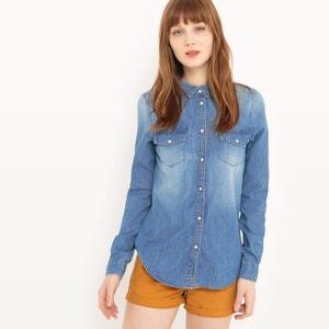 Long-Sleeved Denim Shirt LE TEMPS DES CERISES