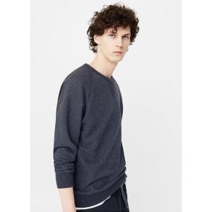 Sweat-shirt en coton texturé MANGO MAN