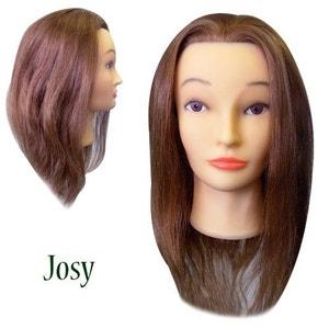 Tête de Coiffure JOSY, cheveux 100% naturels COSMETICS UNITED