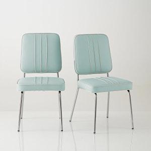 Retro stoel, chroomstaal, Horing, set van 2 La Redoute Interieurs