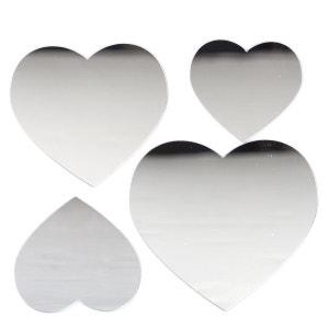 Stickers Miroir - 15 x 15 cm - Coeur ATMOSPHERA