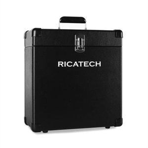RC0042 Coffre pour 30 disques vinyles noir RICATECH