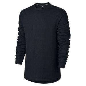 Effen T-shirt met ronde hals en lange mouwen NIKE