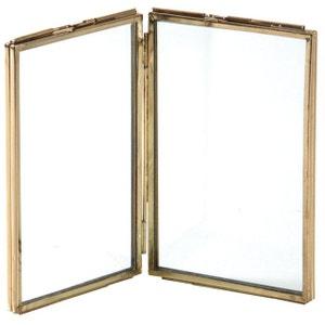 Double cadre photo en laiton AUBRY GASPARD