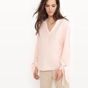 Gestreepte blouse met V-hals VERO MODA