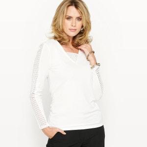 T-shirt, stretch et maille ajourée ANNE WEYBURN