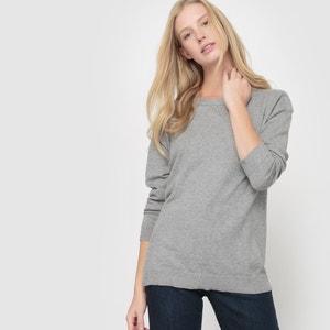 Jersey amplio con cuello barco, de algodón y cachemir R essentiel