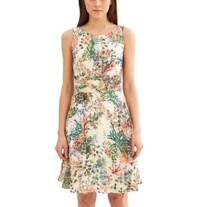 Ärmelloses Kleid mit Blumenmuster und Rückenausschnitt ESPRIT
