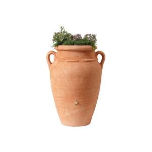 Kit Amphore Antik - Bac à plantes + collecteur + robinet - 600 L Terracotta GARANTIA