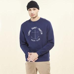 Crew Neck Sweatshirt with Motif on Front RAD