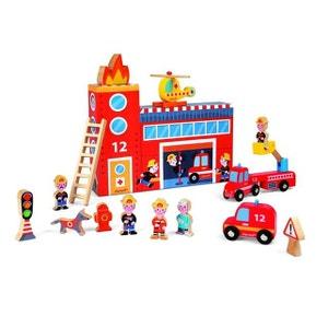 Story Box Pompiers : 15 pièces en bois JANOD