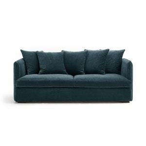 canape velours bleu la redoute. Black Bedroom Furniture Sets. Home Design Ideas