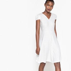 Kurzärmeliges Kleid mit V-Ausschnitt La Redoute Collections