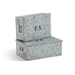 Caixas de arrumação em zinco, LOUPI (lote de 2) La Redoute Interieurs