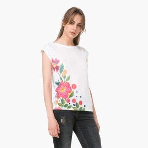 Sleeveless Buttoned Shoulder T-Shirt DESIGUAL