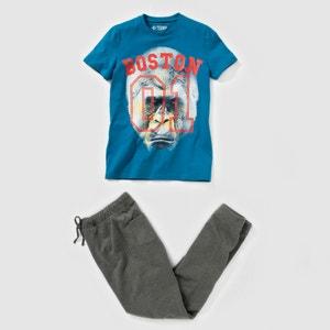 Pijama dos tejidos, estampado gorila, 10-16 años R pop