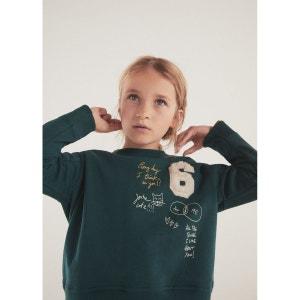 Sweat-shirt en coton à décorations en relief MANGO KIDS