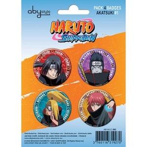 NARUTO SHIPPUDEN - Pack de badges - Akatsuki #1 ABYSTYLE