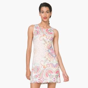 Платье короткое без рукавов с рисунком DESIGUAL