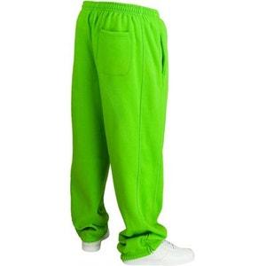 Bas de jogging URBAN CLASSICS Kids Vert lime Large molletonné URBAN CLASSICS