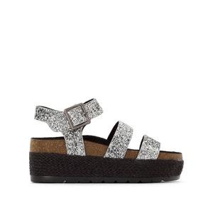 Sandales compensées à paillettes COOLWAY