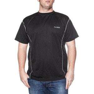 T-shirt manches courtes technique 'Aero' noir ALLSIZE