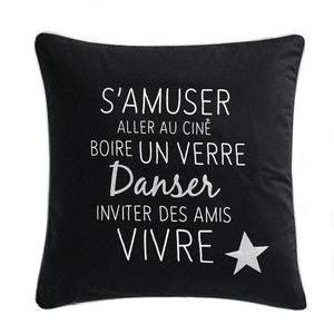 Belle Soirée Printed Percale Cushion Cover La Redoute Interieurs