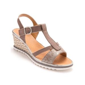 Sandales compensées, semelle légère PEDICONFORT