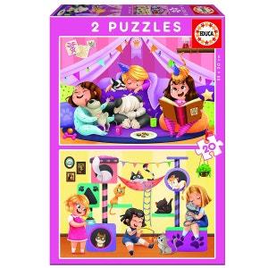 Puzzle 2 x 20 pièces : Pyjama party ! EDUCA