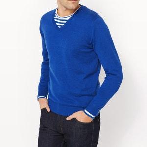 Jersey cuello de pico 100% algodón La Redoute Collections