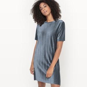 Vestido de efecto plisado y manga corta VISOMINA DRESS VILA