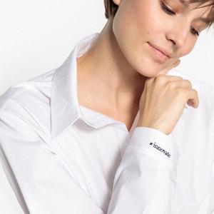 Bluzka z haftem #innovate na mankiecie LA REDOUTE X JFD